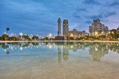 Het Vierkant van Spanje, Kerstman Cruz DE Tenerife Stock Foto's