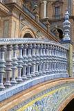 Het Vierkant van Spanje in Sevilla Stock Afbeeldingen