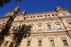 Het Vierkant van Spanje in Sevilla stock fotografie