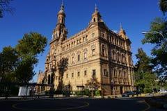 Het Vierkant van Spanje in Sevilla Stock Foto
