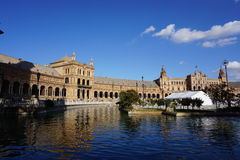 Het Vierkant van Spanje in Sevilla Royalty-vrije Stock Foto's