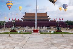 Het Vierkant van Tiananmen, Peking, China royalty-vrije stock afbeeldingen