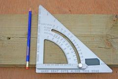 Het vierkant van timmerlieden. Royalty-vrije Stock Foto