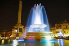 Het Vierkant van Trafalgar bij Nacht 2 Royalty-vrije Stock Foto