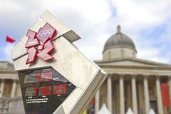 Het Vierkant van Trafalgar dat op de Olympische Spelen wordt voorbereid Stock Foto