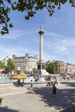 Het vierkant van Trafalgar, Londen Stock Foto