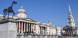 Het Vierkant van Trafalgar in Londen Stock Afbeeldingen