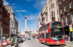 Het Vierkant van Trafalgar in Londen, het UK Stock Foto's