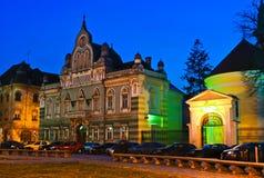 Het Vierkant van Unirii in Timisoara Stock Foto's