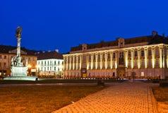 Het Vierkant van Unirii in Timisoara Stock Foto