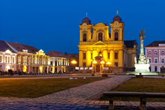 Het Vierkant van Unirii in Timisoara Royalty-vrije Stock Foto's