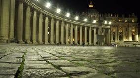 Het vierkant van Vatikaan stock video