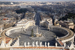 Het vierkant van Vatikaan Stock Afbeelding