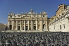 Het vierkant van Vatikaan Stock Afbeeldingen
