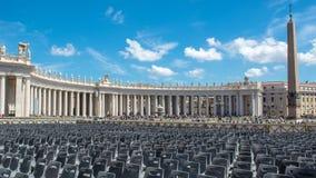 Het Vierkant van Vatikaan St Peter ` s Royalty-vrije Stock Afbeeldingen