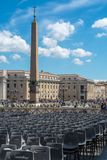 Het Vierkant van Vatikaan St Peter ` s Royalty-vrije Stock Fotografie
