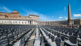 Het Vierkant van Vatikaan St Peter ` s Royalty-vrije Stock Foto