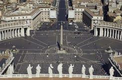 Het Vierkant van Vatikaan - St. Peters - Rome - Italië Royalty-vrije Stock Fotografie