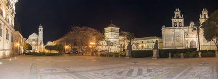 Het Vierkant van Vazquez Molina bij nacht, Ubeda, Spanje royalty-vrije stock fotografie