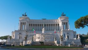 Het Vierkant van Venetië, Altare-della Patria, Rome Italië stock footage