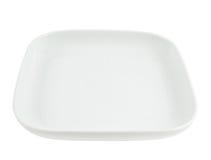 Het vierkant vormde lege ceramische plaat Stock Afbeelding