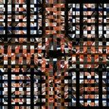 Het vierkante bruine donkere patroon van de glastegel Stock Afbeeldingen