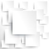 Vierkant element op Witboek met schaduw (vector) Stock Foto's