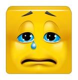 Het vierkante emoticon schreeuwen royalty-vrije illustratie