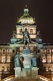 Het Vierkante en Nationale Museum van Wenceslav, Praag Royalty-vrije Stock Foto's