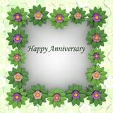 Het vierkante frame van de bloesem met bloemenachtergrond Royalty-vrije Stock Foto's