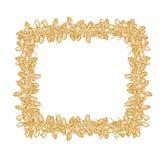 Het vierkante gele kader van klaverzaden stock illustratie