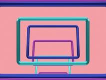Het vierkante metaal 3d kader geeft terug vector illustratie