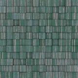 Het vierkante mozaïek betegelde geel blauwgroen grungepatroon Stock Foto