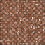 Het vierkante mozaïek betegelde veelvoudig roodbruin grungepatroon Stock Fotografie