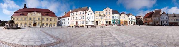 Het vierkante panorama van de stad Stock Afbeeldingen