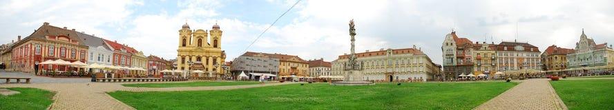 Het Vierkante Panorama van Unirii Stock Afbeeldingen