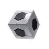 Het vierkante pictogram van de voetbalbal Royalty-vrije Stock Foto's