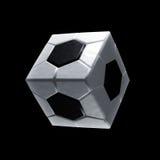 Het vierkante pictogram van de voetbalbal Stock Foto's