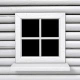 Het vierkante witte venster van de landstijl Stock Foto