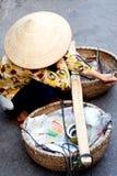 Het Vietnamese straatleven Royalty-vrije Stock Afbeeldingen