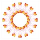 Het vignet van de valentijnskaart. royalty-vrije illustratie