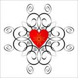 Het vignet van de valentijnskaart. vector illustratie