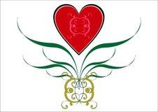 Het vignet van de valentijnskaart. stock illustratie