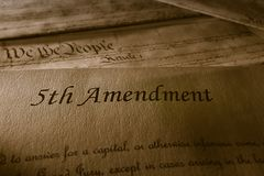 Het Vijfde Amendement stock fotografie