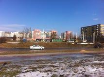 Het Vilnius stadspanorama Stock Foto's