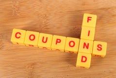 Het vinden van coupons stock foto's