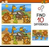 Het vinden van het beeldverhaal van het verschillenspel Stock Afbeelding