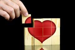 Het vinden van liefde stock foto's