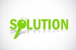 Het vinden van oplossing Vector Illustratie