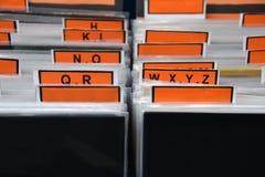 Het vinyl registreert inzameling stock foto's